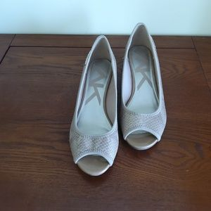 Anne Klein Wedge Heel, Size 7M, Peep Toe